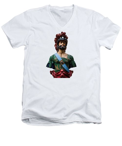 Vintage Ships Bust Men's V-Neck T-Shirt by Martin Newman