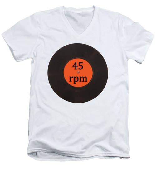Vinyl Record Vintage 45 Rpm Single Men's V-Neck T-Shirt