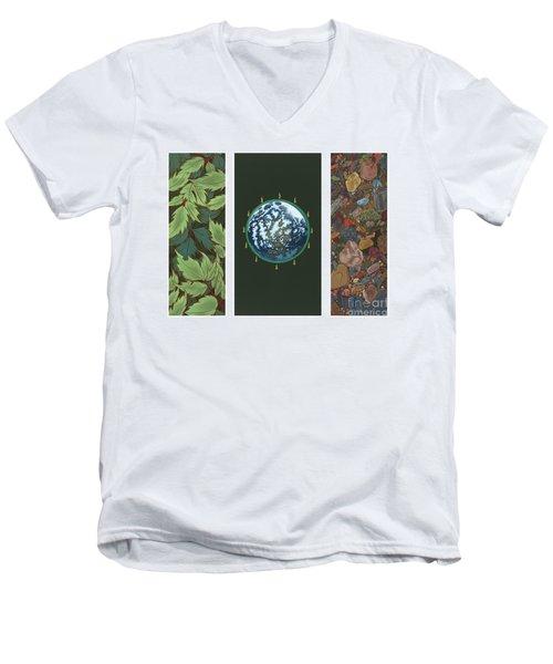 Viriditas Triptych Men's V-Neck T-Shirt