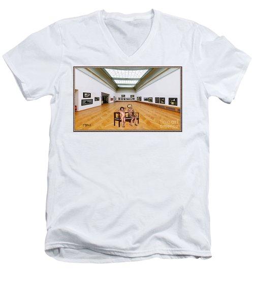 Virtual Exhibition - 32 Men's V-Neck T-Shirt by Pemaro