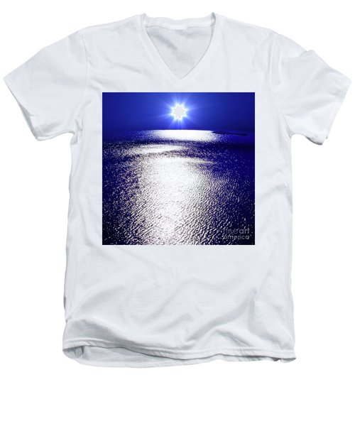Virtual Sea Men's V-Neck T-Shirt by Tatsuya Atarashi