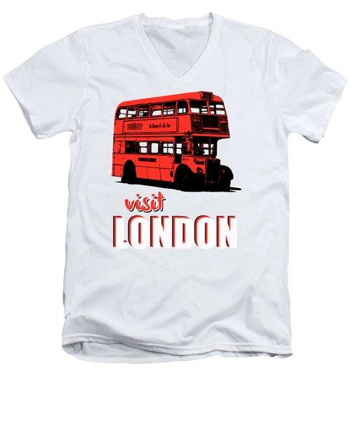 Visit London Tee Men's V-Neck T-Shirt by Edward Fielding