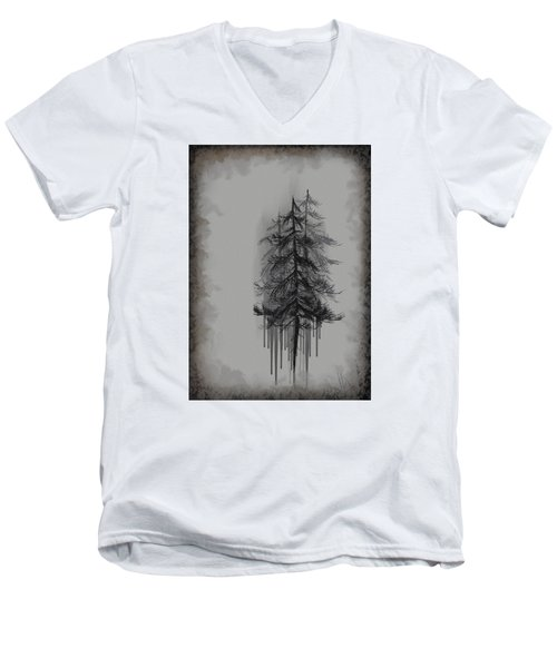 Men's V-Neck T-Shirt featuring the painting Voices by Annette Berglund