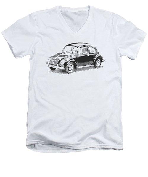 Volkswagen 1949 - Parallel Hatching Men's V-Neck T-Shirt