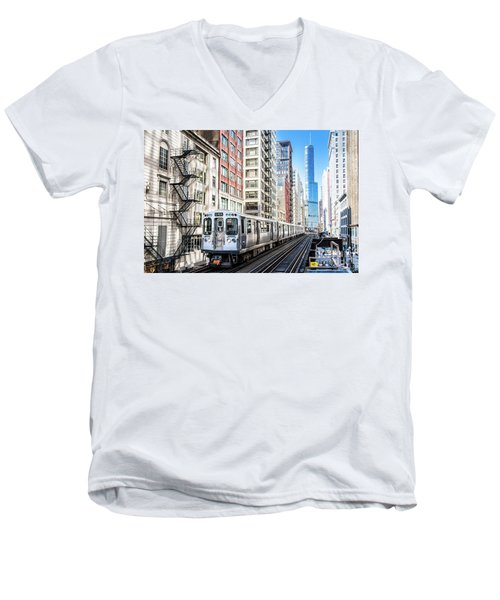 The Wabash L Train Men's V-Neck T-Shirt