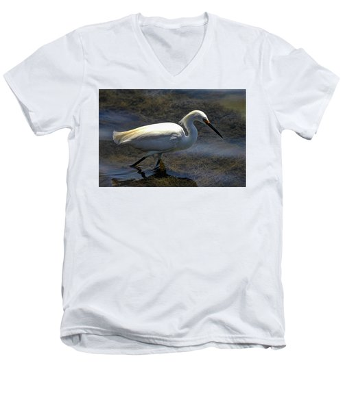 Wading And Watching Men's V-Neck T-Shirt