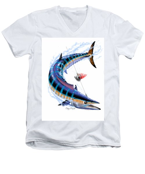 Wahoo Digital Men's V-Neck T-Shirt by Carey Chen
