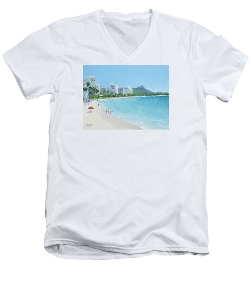 Waikiki Beach Honolulu Hawaii Men's V-Neck T-Shirt