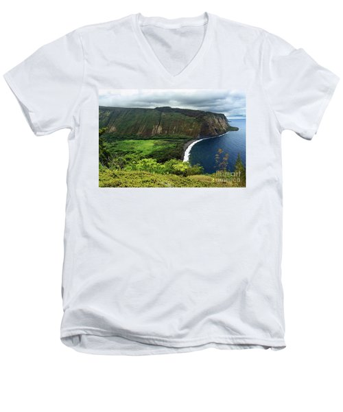 Waipio Valley Men's V-Neck T-Shirt