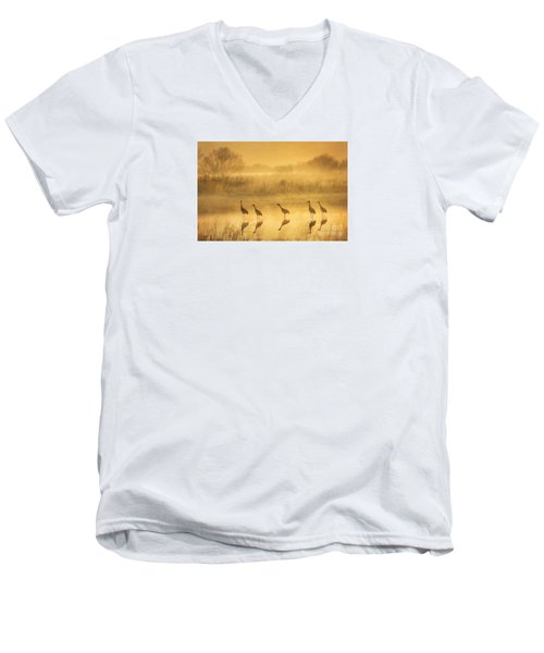 Waiting Men's V-Neck T-Shirt by Alice Cahill