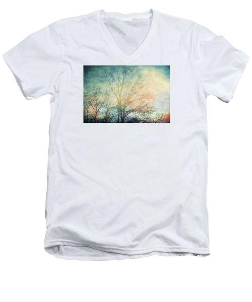 Waiting For Rain Men's V-Neck T-Shirt by Michele Cornelius