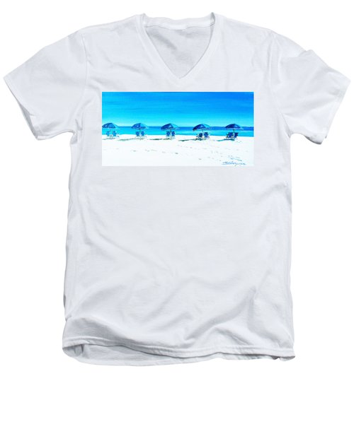 Waiting For The Beach Sitters Men's V-Neck T-Shirt