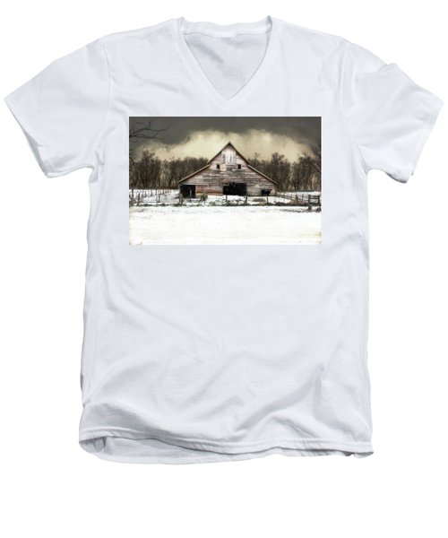 Men's V-Neck T-Shirt featuring the photograph Waiting For The Storm To Pass by Julie Hamilton