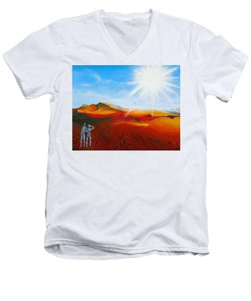 Walk A Mile Men's V-Neck T-Shirt by Raymond Perez