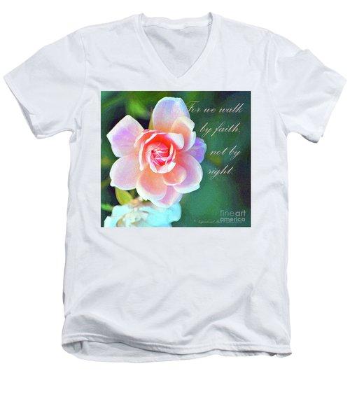 Walk By Faith Men's V-Neck T-Shirt