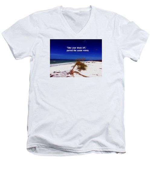 Walk In The Sand Men's V-Neck T-Shirt