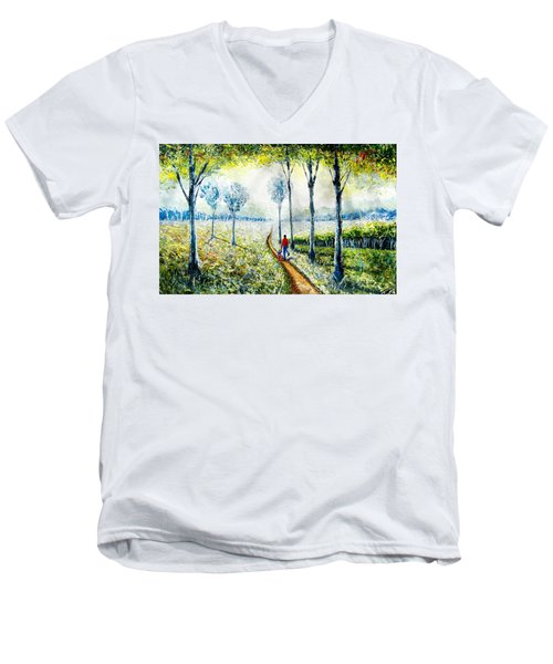 Walk Into The World Men's V-Neck T-Shirt