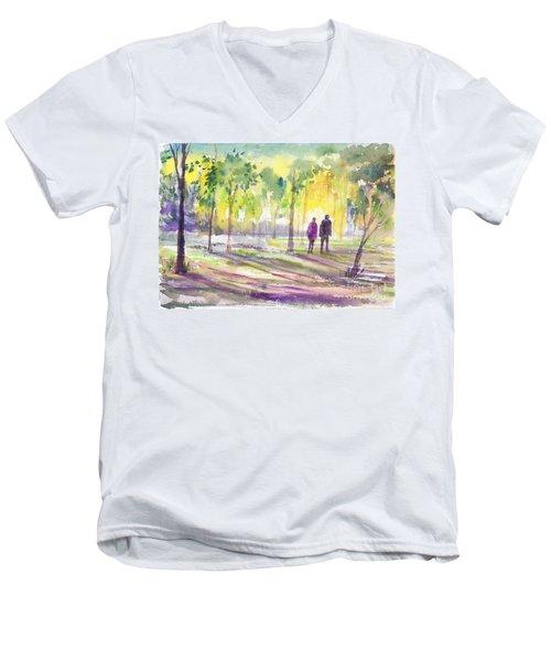 Walk Through The Woods Men's V-Neck T-Shirt