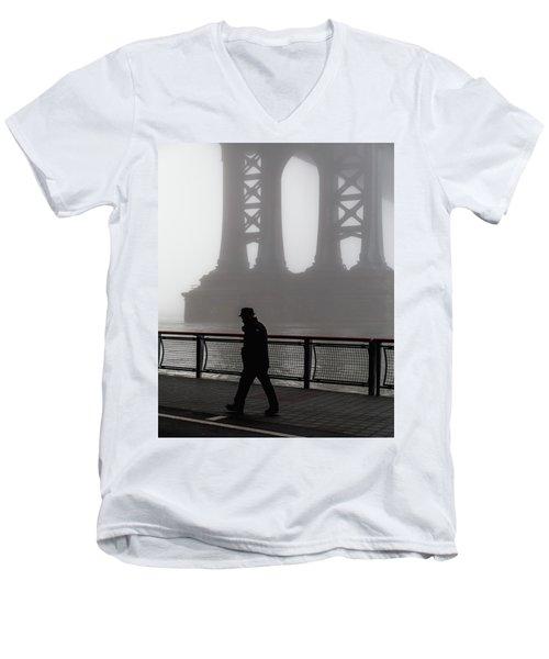Walk Thru The Fog... Men's V-Neck T-Shirt