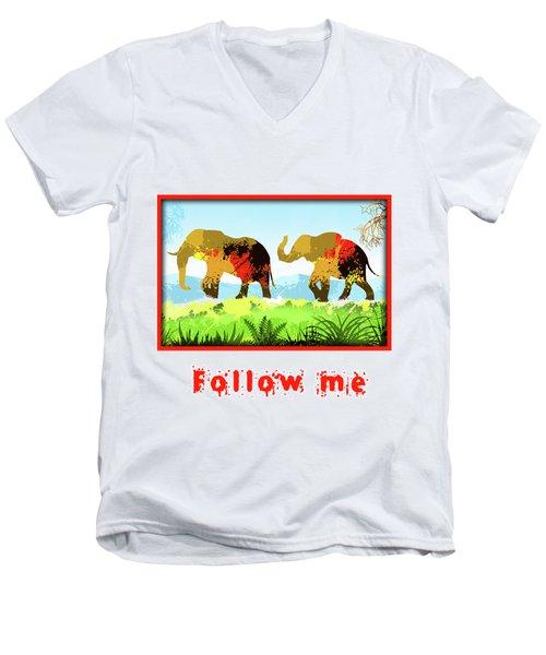 Walk With Me Men's V-Neck T-Shirt by Anthony Mwangi