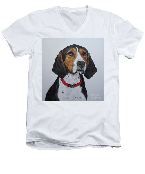 Walker Coonhound - Cooper Men's V-Neck T-Shirt by Megan Cohen