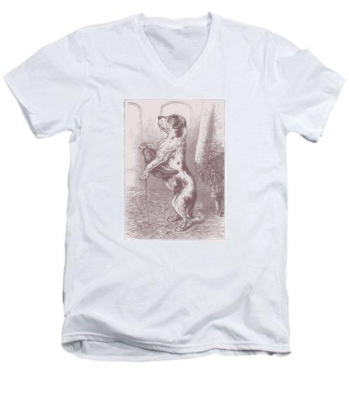 Walkies? Men's V-Neck T-Shirt by David Davies