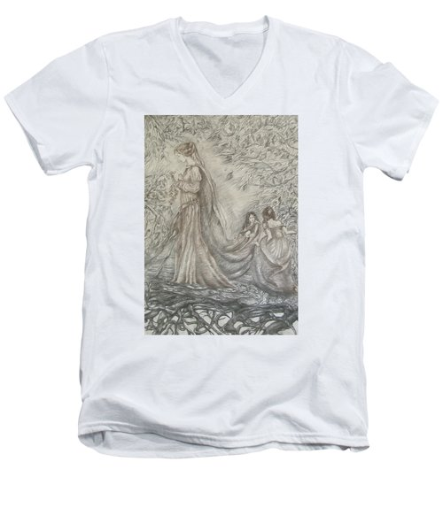 Walking In The Magic Garden Men's V-Neck T-Shirt