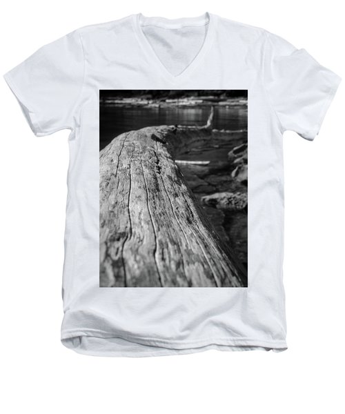 Walking On A Log Men's V-Neck T-Shirt
