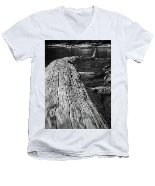 Walking On A Log Men's V-Neck T-Shirt