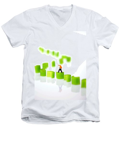 Walking On Celery  Men's V-Neck T-Shirt