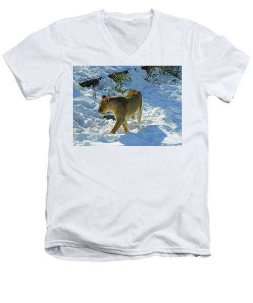 Walking On The Wild Side Men's V-Neck T-Shirt by Emmy Marie Vickers