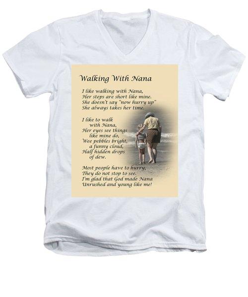 Walking With Nana Men's V-Neck T-Shirt