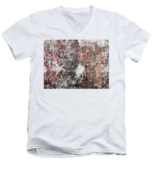 Wall Abstract 103 Men's V-Neck T-Shirt by Maria Huntley