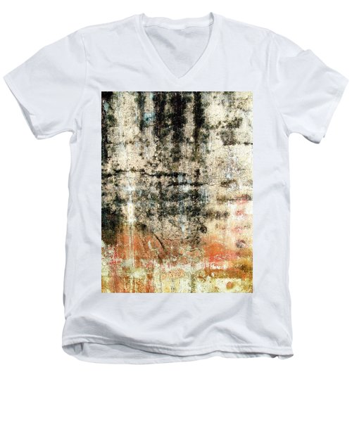 Wall Abstract 182 Men's V-Neck T-Shirt by Maria Huntley