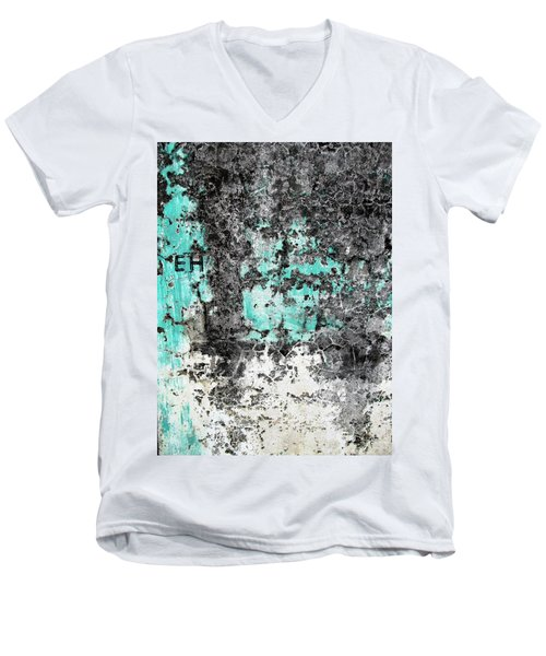 Wall Abstract 185 Men's V-Neck T-Shirt by Maria Huntley