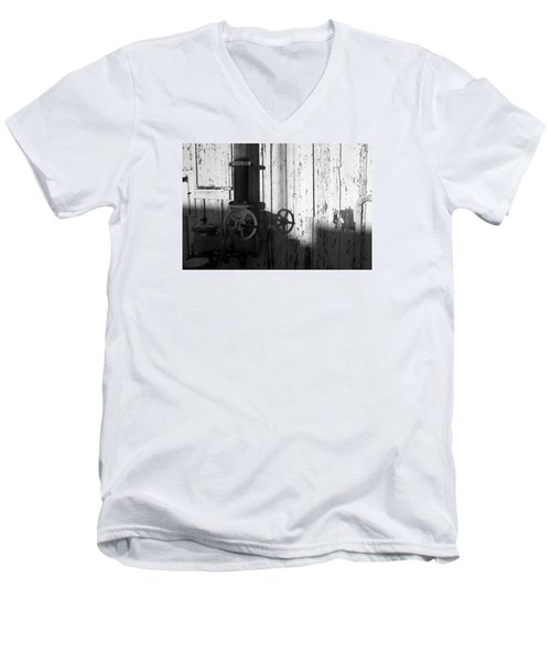 Wall Pipe Shadows Men's V-Neck T-Shirt by Catherine Lau