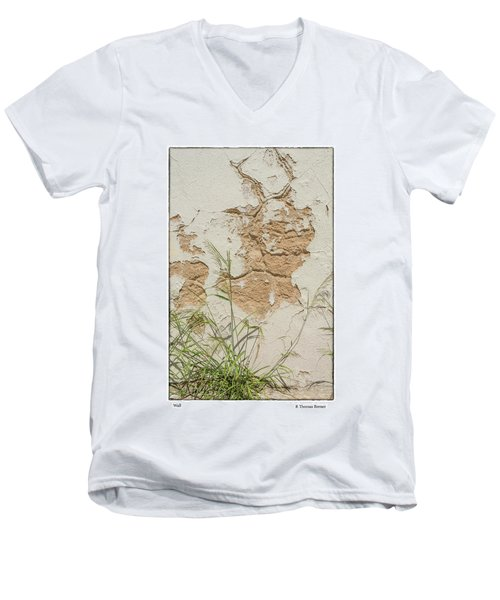 Men's V-Neck T-Shirt featuring the photograph Wall by R Thomas Berner