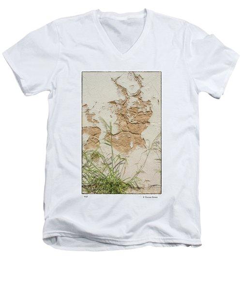 Wall Men's V-Neck T-Shirt by R Thomas Berner