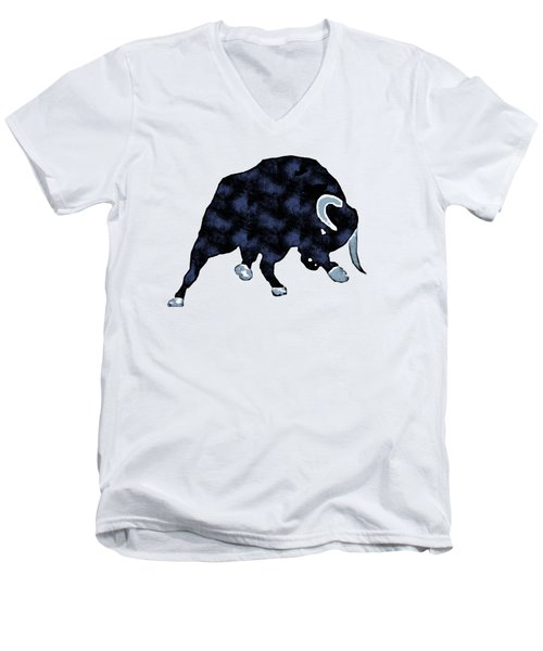 Wall Street Bull Market Series 1 T-shirt Men's V-Neck T-Shirt