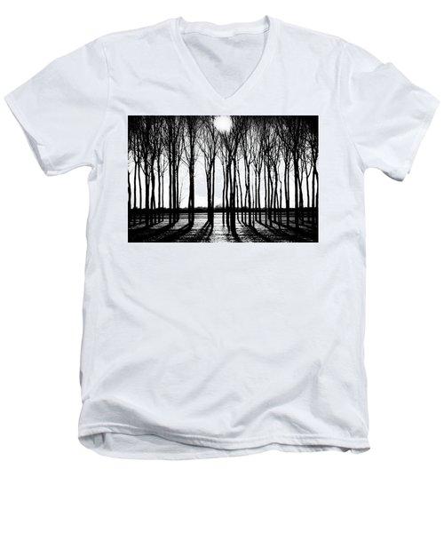 Walnut Grove Fall Evening Men's V-Neck T-Shirt