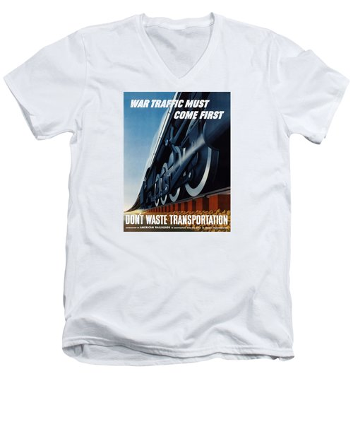 War Traffic Must Come First Men's V-Neck T-Shirt