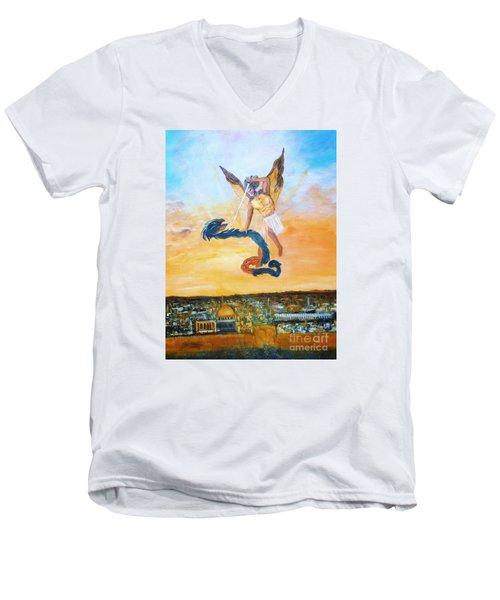 Warfare Rev 12 Vs7 Men's V-Neck T-Shirt by Donna Dixon