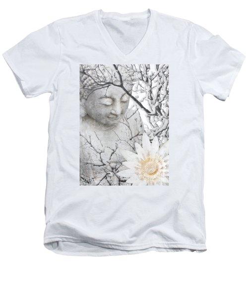 Warm Winter's Moment Men's V-Neck T-Shirt by Christopher Beikmann