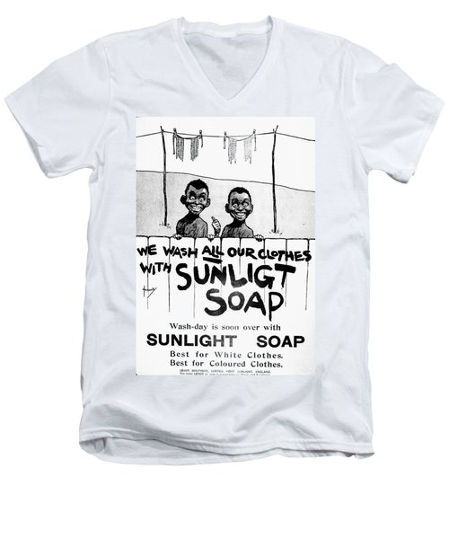 Wash-day Is Soon Over Men's V-Neck T-Shirt