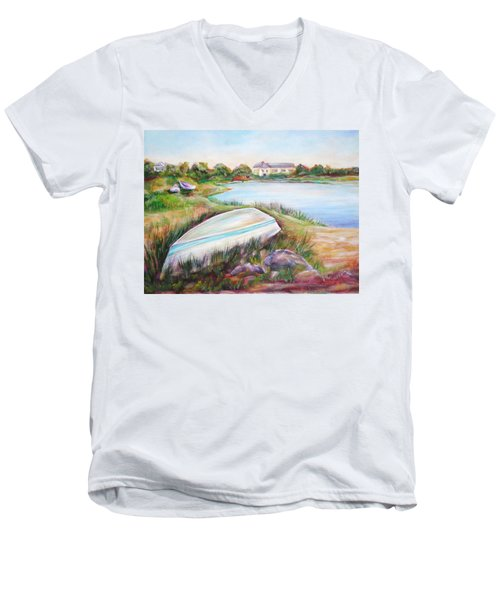 Washed Up Men's V-Neck T-Shirt by Patricia Piffath