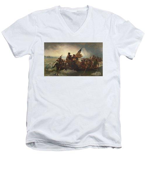 Washington Crossing The Delaware Men's V-Neck T-Shirt