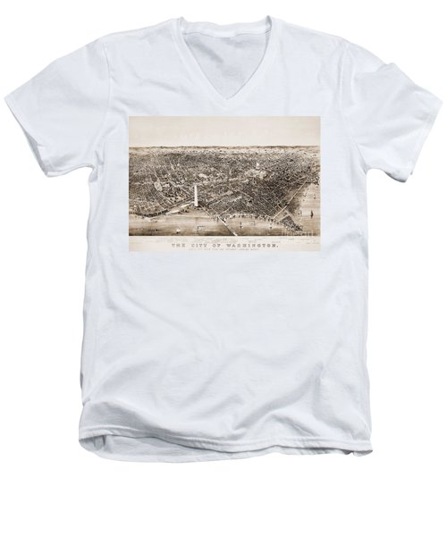 Washington D.c., 1892 Men's V-Neck T-Shirt by Granger