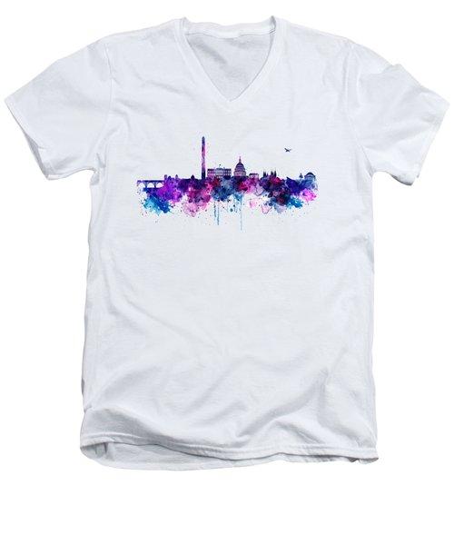 Washington Dc Skyline Men's V-Neck T-Shirt