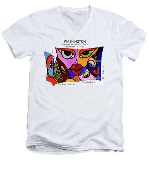 Washington Men's V-Neck T-Shirt