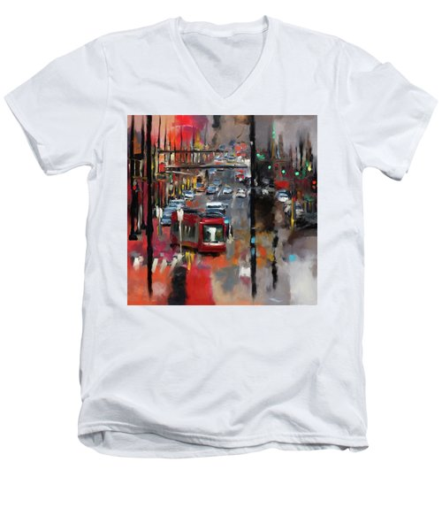 Washington I 471 1 Men's V-Neck T-Shirt by Mawra Tahreem